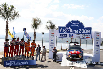 Podium: winners Sbastien Loeb and Daniel Elena, Citroen C4, Citroen Total World Rally Team, second place Daniel Sordo and Marc Marti, Citroen C4 Citroen Total World Rally Team, third place Henning Solberg and Cato Menkerud, Ford Focus RS WRC 08, Stobart