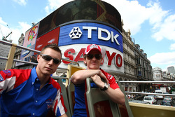 Aaron Steele, rookie driver of A1 Team Great Britain and Dan Clarke, driver of A1 Team Great Britain