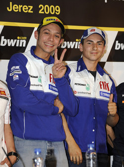 Press conference: Valentino Rossi, Fiat Yamaha Team and Jorge Lorenzo, Fiat Yamaha Team