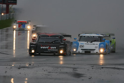 DP start: #12 Penske Racing Porsche Riley: Timo Bernhard, Romain Dumas and #01 Chip Ganassi Racing with Felix Sabates Lexus Riley: Scott Pruett, Memo Rojas lead the field