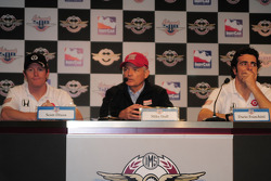 Scott Dixon, Target Chip Ganassi Racing; Dario Franchitti, Target Chip Ganassi Racing; and Mike Hull, Target Chip Ganassi Racing