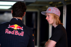 Mark Webber, Red Bull Racing with with the new test driver Brendon Hartley