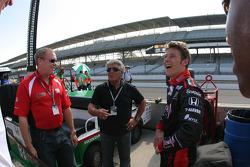 Al Unser Jr., Mario Andretti and Marco Andretti