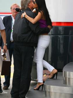 Nicole Scherzinger, Singer in the Pussycat Dolls and girlfriend of Lewis Hamilton, McLaren Mercedes