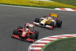 Felipe Massa, Scuderia Ferrari, Fernando Alonso, Renault F1 Team