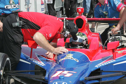 Paul Tracy, KV Racing Technology receives instructions from Brian Barnhart, Director of Competition, Indy Racing League