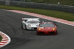 #84 Team Modena Ferrari F430 GT: Antonio Garcia, Leo Mansell; #55 IPB Spartak Racing Lamborghini Murcielago R-GT: Peter Kox, Filip Salaquarda, Erik Janis