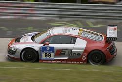 #99 Phönix Racing Audi R8 LMS: Marc Basseng, Marcel Fässler, Mike Rockenfeller, Frank Stippler
