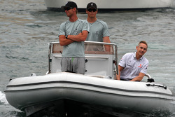 Martin Whitmarsh, McLaren, Chief Executive Officer on his way to the FOTA meeting on the boat of Flavio Briatore, Renault F1 Team, Team Chief, Managing Director