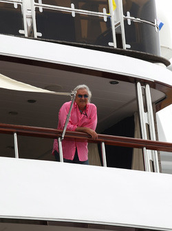 Flavio Briatore, Renault F1 Team, Team Chief, Managing Director waiting for the FOTA meeting on the boat of Flavio Briatore, Renault F1 Team, Team Chief, Managing Director