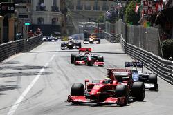 Felipe Massa, Scuderia Ferrari leads Nico Rosberg, Williams F1 Team