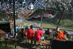 Fans watch the race at Hatzenbach