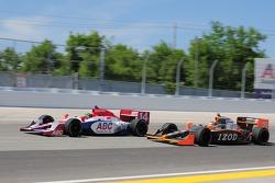 Paul Tracy, A.J. Foyt Enterprises and Ryan Hunter-Reay, Vision Racing