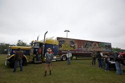 A US truck in the fan area