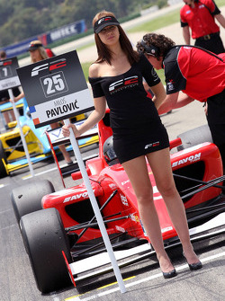 Grid girl for Milos Pavlovic