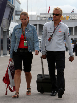Heikki Kovalainen, McLaren Mercedes and his girlfriend Catherine Hyde