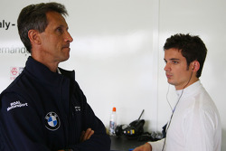Roberto Ravaglia, Team Manager, BMW Team Italy-Spain / ROAL Motorsport and Sergio Hernandez, BMW Team Italy-Spain
