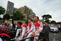 Lucas Luhr, Marco Werner and Mike Rockenfeller