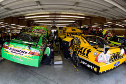 The Interstate Batteries Toyota and the DeWALT Ford