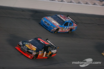 Martin Truex Jr., Earnhardt Ganassi Racing Chevrolet and A.J. Allmendinger, Richard Petty Motorsports Dodge