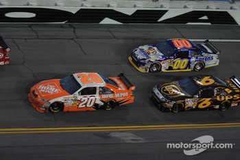 Joey Logano, Joe Gibbs Racing Toyota, David Ragan, Roush Fenway Racing Ford and David Reutimann, Michael Waltrip Racing Toyota