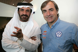 Press conference: FIA's Vice-President for sport and 14-time Middle East Rally Champion Mohamed Ben Sulayem with Carlos Sainz