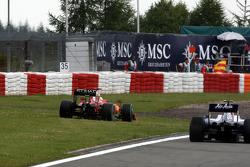 Felipe Massa, Scuderia Ferrari, runs of the track