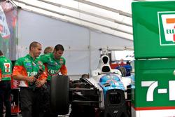 Andretti Green Racing paddock