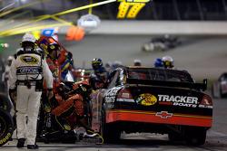 Pit stop for Martin Truex Jr., Earnhardt Ganassi Racing Chevrolet