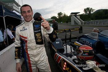 P1 and overall pole winner Simon Pagenaud celebrates