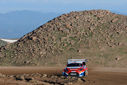 Marcus Gronholm in the Boulder Park section of the Pikes Peak International Hillclimb during practice