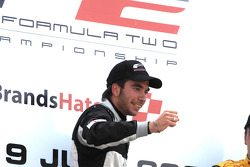 Race 1 winner Philipp Eng on the podium