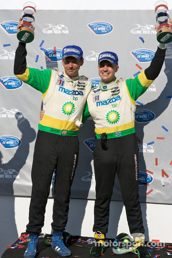 P2 podium: class winners Butch Leitzinger and Marino Franchitti