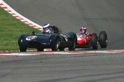 #40 Wulf Goetze (D) Cooper T40, soon to be lapped by #1 John Harper (GB) Brabham BT4
