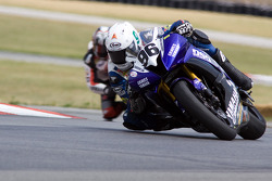 The #96 Graves Motorsport Yamaha YZF-R6 of Ricky Parker