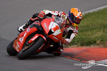 The #1 Erion Racing Honda CBR600RR of Jake Zemke