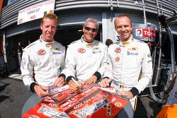 Eric de Doncker, Bas Leinders and Renaud Kuppens sign autographs