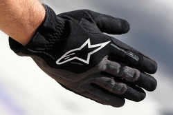 The glove of a mechanic