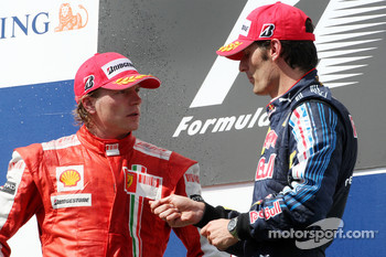 Kimi Raikkonen and Mark Webber in 2009