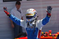 Giedo Van der Garde celebrates his victory