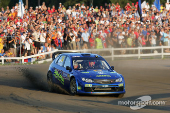 Mads Ostberg and Unnerud Ole Kristensen, Subaru Impreza WRC 08