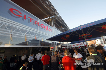 Citroen Total World Rally Team hospitality area