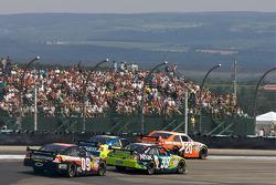 Joey Logano, Joe Gibbs Racing Toyota, Carl Edwards, Roush Fenway Racing Ford, Mark Martin, Hendrick Motorsports Chevrolet, Ron Fellows, Phoenix Racing Dodge