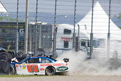 Dale Earnhardt Jr., Hendrick Motorsports Chevrolet crashes into the wall