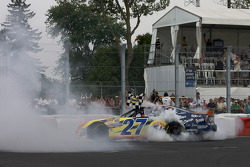 NASCAR-CDN: Race winner Andrew Ranger celebrates