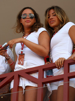 Girls in the paddock club