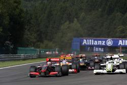 Heikki Kovalainen, McLaren Mercedes, Jenson Button, BrawnGP