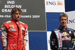 Kimi Raikkonen, Scuderia Ferrari and Sebastian Vettel, Red Bull Racing
