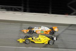 Dario Franchitti, Target Chip Ganassi Racing and Tony Kanaan, Andretti Green Racing