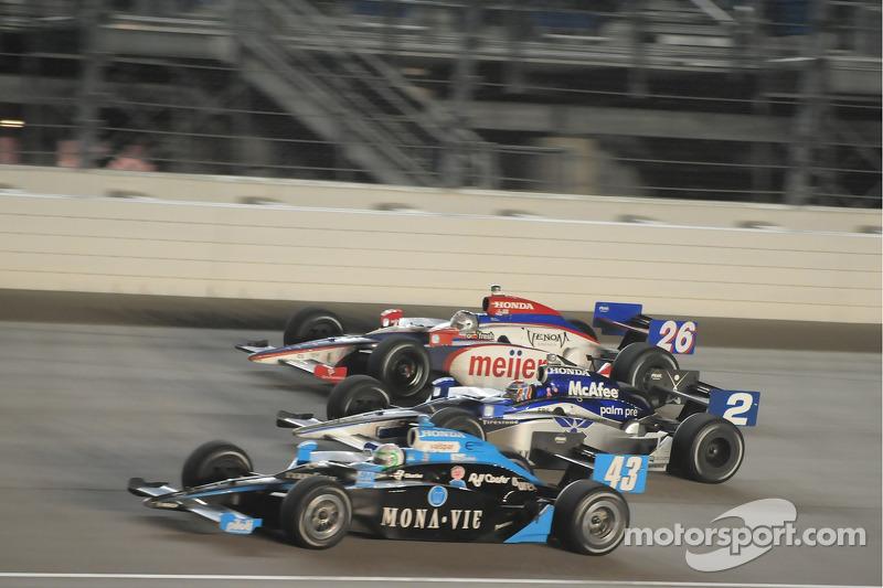Tomas Scheckter, Dreyer & Reinbold Racing; Raphael Matos, Luzco Dragon Racing; and Marco Andretti, Andretti Green Racing